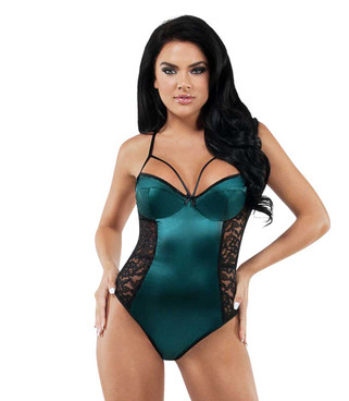 Starline Lingerie   Lace and Satin Teddy (SL9008)