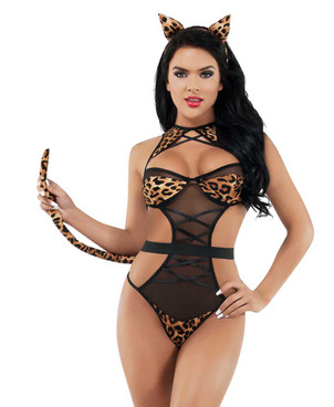 PlayFul Night Time Leopard Set by Starline Lingerie