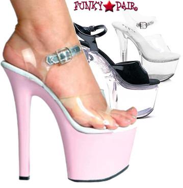 Ellie Shoes | 711-Flirt-C - 7 Inch Ankle Strap Platform Sandal | FunkyPair.com