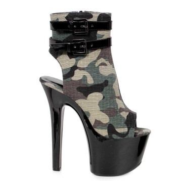 Sexy Military Camouflage Ankle Boots | Ellie 711-Cadet