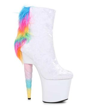 Ellie Shoes   777-Magic, 7 Inch Unicorn Heel Platform Ankle Boots