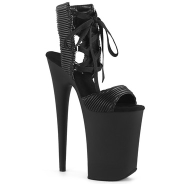 Pleaser | Infinity-900-14, Xtreme High Heel Lace up Sandal