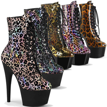 Adore-1020LP, Leopard Print Boots by Pleaser USA