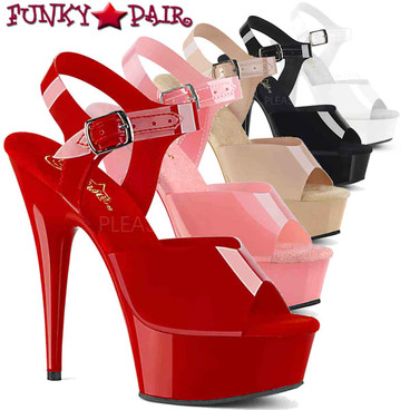 Stripper Shoes Delight-608N, Jelly Like Ankle Strap Platform Sandal | FunkyPair.com
