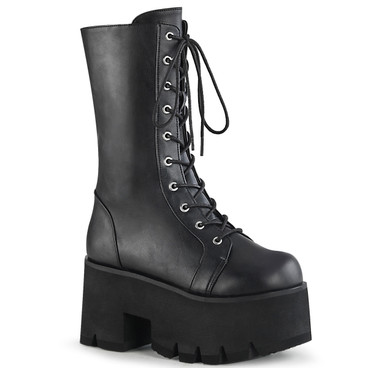 Lace-up Mid-Calf Chunky Platform Boots Demonia  ASHES-105