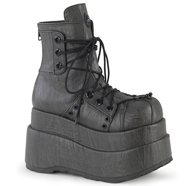 Raver Ankle Wedge Boots with Eyelet Panel Demonia | BEAR-120