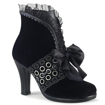 GLAM-110, Ankle Boots with Lace and Grommets | Women Demonia Boots