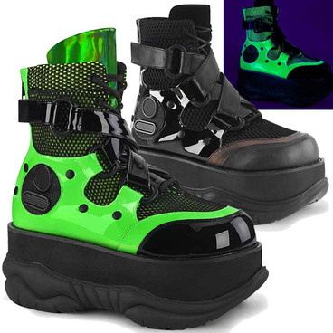 NEPTUNE-126 Burning Man Strap Ankle Boots by Demonia