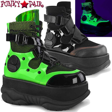 Demonia | NEPTUNE-126 Men's Goth Strap Ankle Boots