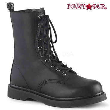 Demonia | BOLT-200, Mid-Calf Lace-up Combat Boots
