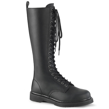 Knee High Lace up Combat Boots Men's Demonia | BOLT-400,