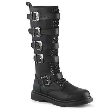Men's Demonia | BOLT-425, Knee High Buckles Combat Boots