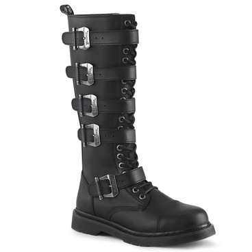 Men's Demonia | BOLT-425, Knee High Buckles Combat Boots