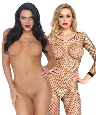 Leg Avenue | LA-8380, Long Sleeve FishNet BodyStocking