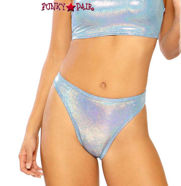 Metallic High Waist Bottom by J Valentine JV-FF264 color periblue twinkle