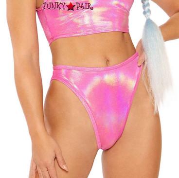 Metallic High Waist Bottom by J Valentine JV-FF264 color pink spectrum