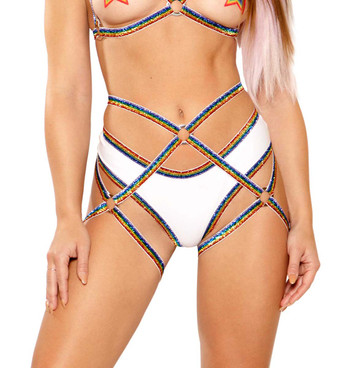 Harness Bottom by J Valentine JV-FF277 color rainbow