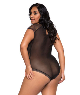 Plus Size Lingerie | LI253X, Keyhole Bodysuit back view