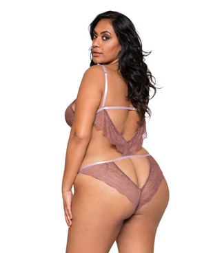 Plus Size Lingerie | LI291X, Lace Cutout Teddy back view