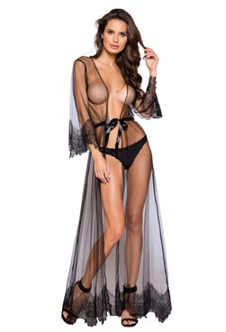 Roma Lingerie | LI255, Maxi Length Robe front view