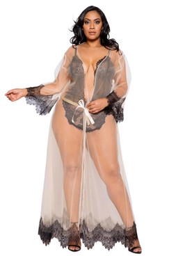 Plus Size Lingerie | LI255Q, Maxi Length Robe