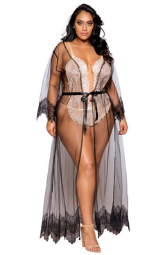 Plus Size Lingerie | LI256Q, Maxi Length Robe