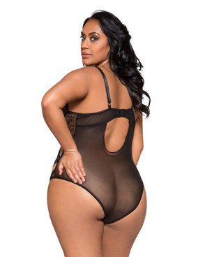 Plus Size Lingerie | LI252X, Multiple Cross Bodysuit back view