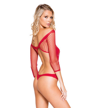Roma Lingerie | LI290, Criss-Cross Teddy back view