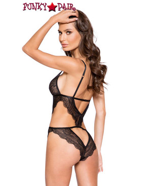 Roma | LI264, Lace Cutout Teddy back view