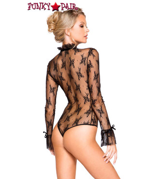 Roma | LI248, Long Sleeved Keyhole Teddy back view