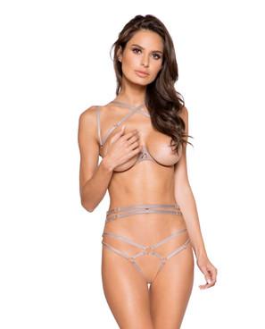 Roma   LI269, Open Cut Bra and Panty Set