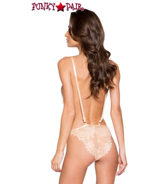 Roma | LI258, Low Plunge Lace Teddy back view