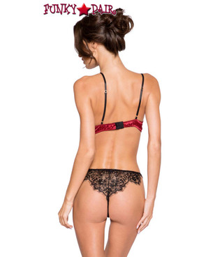 Roma | LI265, Satin and Lace Short Set back view