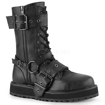 Demonia | VALOR-220, Men's Harness Strap Boots