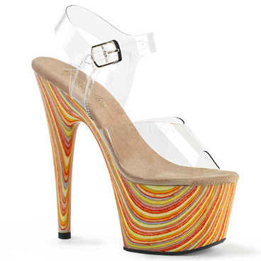 Exotic Dancer Shoes | Adore-708JB, Ankle Strap Jawbreaker Print Platform Sandal