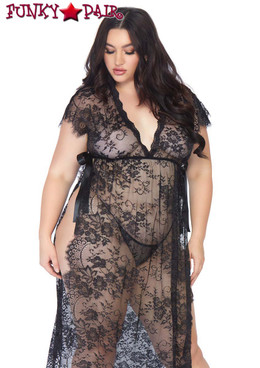 Leg Avenue | LA86103X, Eyelash Lace Robe