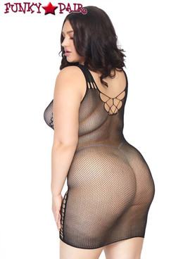 Leg Avenue | LA86790X, Seamless Micro Net Mini Dress back view