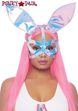 Leg Avenue | LA3749, Holographic Bunny Ear Mask