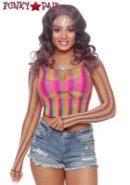 Rainbow Fishnet Crop Top Leg Avenue | LA81600