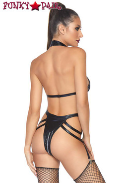 Leg Avenue | KI4028, Cage Strap Garter Teddy back view