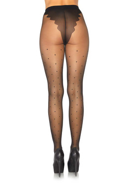 Leg Avenue LA-7934 Polka Dot Pantyhose back view