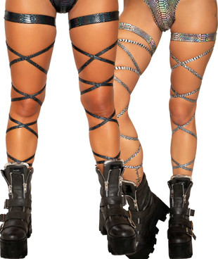 New Roma Costume 3493 Shimmering Leg Wraps With O-Rings