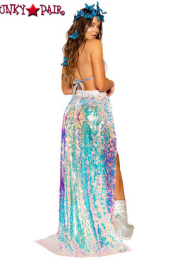Roma | R-3714, SEQUIN OPEN SKIRT back view