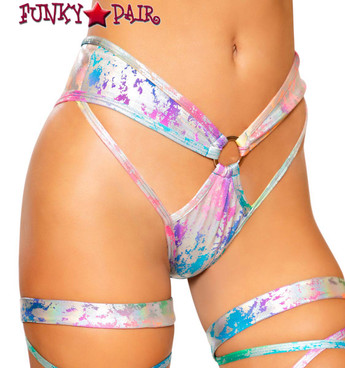 Roma R-3735 | RAINBOW SPLASH RAVE SHORTS
