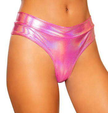 HIGH RISE THONG RAVE SHORTS | Roma R-3737