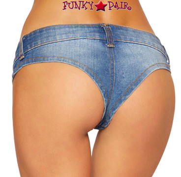 Roma | R-3773, DENIM JEAN BIKINI SHORTS | back view