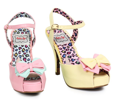 Peep Toe Bow Sandal  Bettie Page | BP412-Vixen