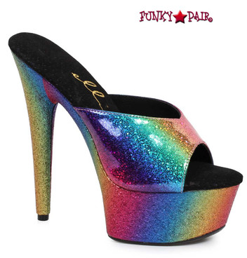 Ellie Shoes | 609-Tricks, Rainbow Platform Mule