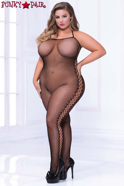 Plus Size Cami Fishnet Bodystocking STM-20468X