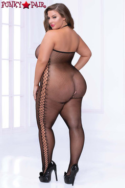 Cami Fishnet Bodystocking STM-20468X Plus Size back view